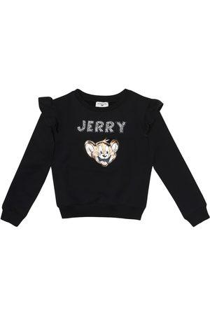 MONNALISA Appliquéd cotton sweatshirt