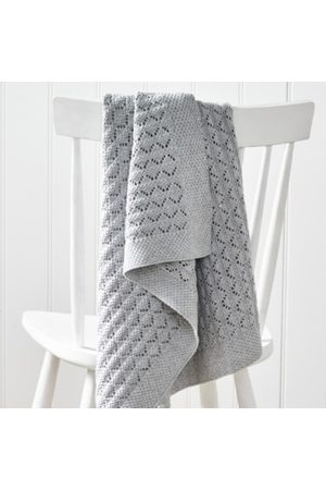 The White Company Heirloom Gray Baby Blanket
