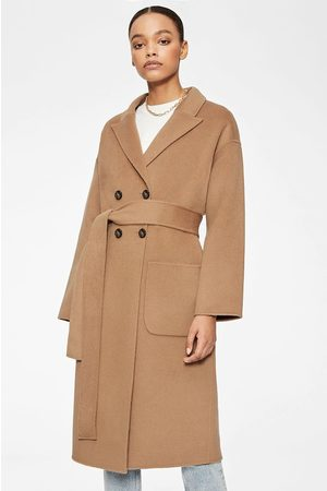 ANINE BING Women Coats - Dylan Wool Coat in Camel