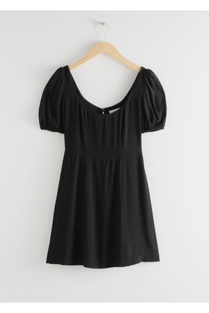 & OTHER STORIES Puff Sleeve Crepe Mini Dress