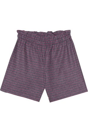 BONPOINT Checked stretch cotton-blend shorts