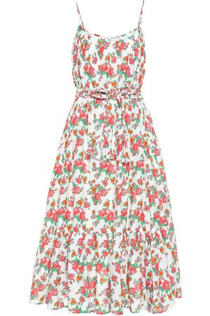 Rhode Lea floral cotton midi dress
