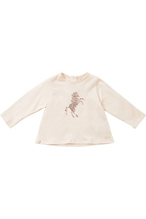 Chloé Embellished L/s Cotton Jersey T-shirt