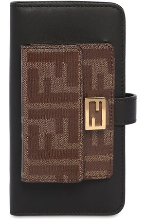 Fendi Leather Iphone X Cover W/chain