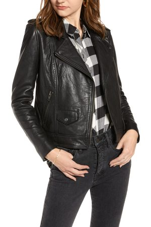 Treasure & Bond Women's Leather Biker Jacket