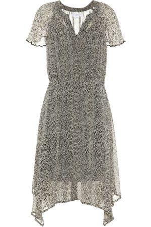 Velvet Belen leopard-print dress
