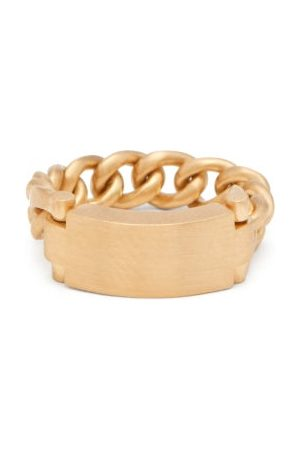 Hum 18kt Bar And Chain Ring - Womens
