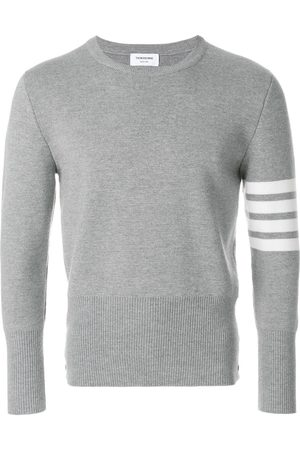 Thom Browne 4-Bar Milano Stitch Pullover - Grey