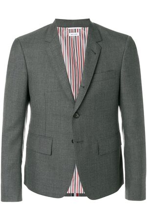 Thom Browne Center-back Stripe Sport Coat - Grey
