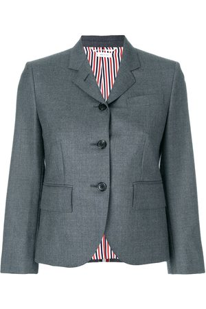 Thom Browne Women Blazers - Center-back Stripe Sport Coat In Solid Wool Twill - Grey