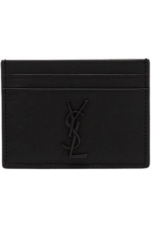 Saint Laurent Men Wallets - Monogram logo plaque cardholder