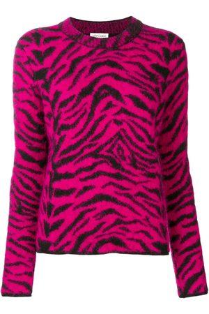 Saint Laurent Women Sweaters - Zebra intarsia jumper