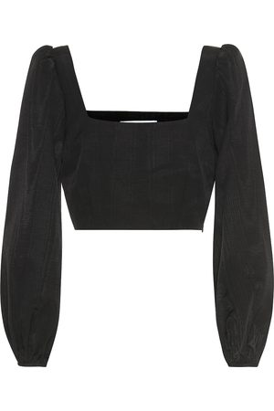RACIL Pat moire cropped top