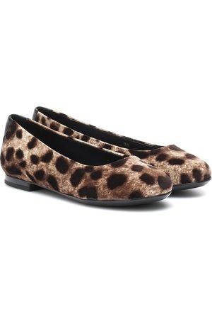 Dolce & Gabbana Leopard-print velvet ballet flats