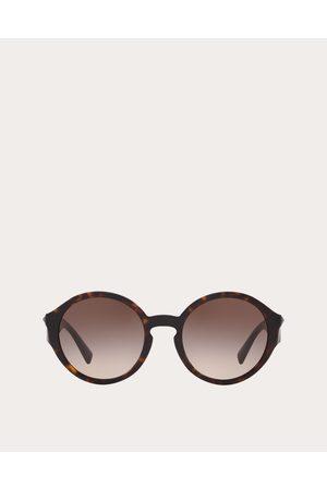 VALENTINO Women Round - Round Acetate Sunglasses With Studs Women Dark 100% Acetate OneSize