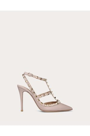 VALENTINO GARAVANI Women Pumps - Rockstud Pump 100mm Women Poudre Lambskin 20%, Metallic Fiber 10% 42