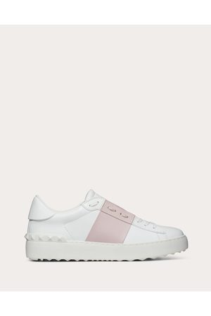 VALENTINO GARAVANI Women Sneakers - Open Sneaker In Calfskin Leather Women Light Calfskin 100% 36.5