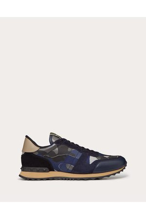 VALENTINO GARAVANI UOMO Rockrunner Camouflage Sneaker Man Dark 100% Pelle Di Vitello - Bos Taurus 46