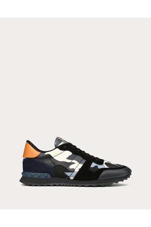 VALENTINO GARAVANI UOMO Camouflage Rockrunner Sneaker Man Grey Calfskin 100% 48
