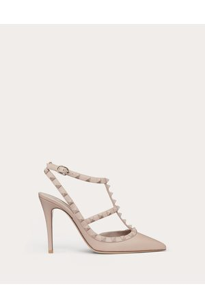 Valentino Rockstud Ankle Strap Pump With Tonal Studs 100 Mm Women Poudre 100% Calfskin 41.5