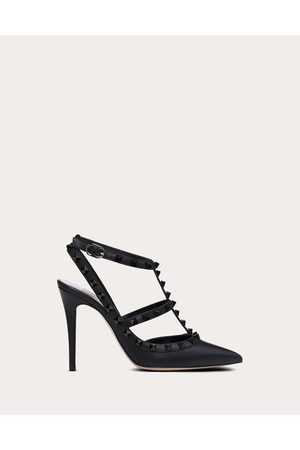 Valentino Rockstud Ankle Strap Pump With Tonal Studs 100 Mm Women Calfskin 100% 35