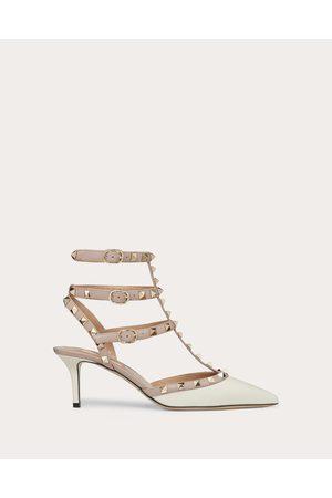 Valentino Rockstud Calfskin Ankle Strap Pump 65 Mm Women Ivory 35