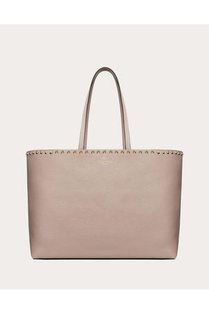 Valentino Women Rockstud Grainy Calfskin Shopper Women Poudre Calfskin 100% OneSize