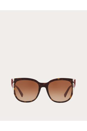 VALENTINO OCCHIALI Color-block Square Frame Acetate Sunglasses Women Dark 100% Acetato OneSize