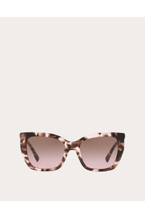 VALENTINO OCCHIALI Women Sunglasses - Square Acetate Sunglasses With Studs Women Light 100% Acetato OneSize
