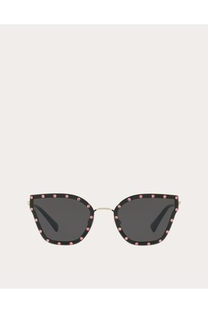 VALENTINO OCCHIALI Crystal Studded Cat-eye Metal Sunglasses Women 100% Metal OneSize