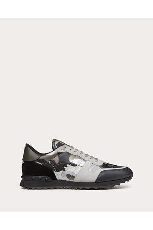 VALENTINO GARAVANI UOMO Rockrunner Camouflage Sneaker Man Grey 100% Calfskin 41.5