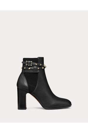 Valentino Women Ankle Boots - Rockstud Grainy Calfskin Ankle Boot 90 Mm Women Calfskin 100% 38.5