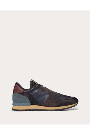 VALENTINO GARAVANI UOMO Camouflage Rockrunner Sneaker Man Bovine Leather 100% 43.5