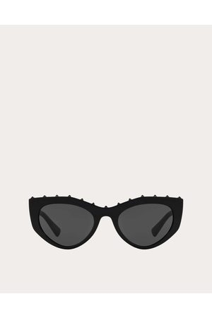VALENTINO OCCHIALI Cat-eye Acetate Sunglasses With Studs Women Acetate 100% OneSize