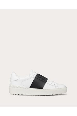 VALENTINO GARAVANI Open Sneaker In Calfskin Leather Women / Calfskin 100% 38.5