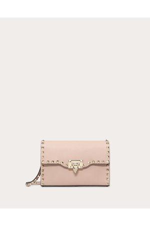 Valentino Rockstud Shoulder Bag Women Poudre 100% Calfskin OneSize