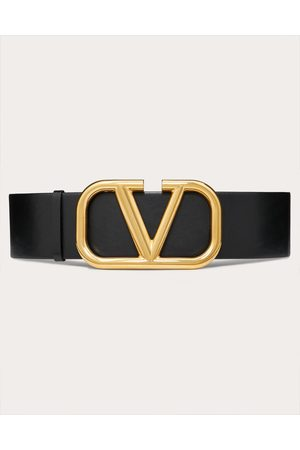 VALENTINO GARAVANI Reversible Vlogo Signature Belt In Glossy Calfskin 70 Mm Women /pure Calfskin 100% 85