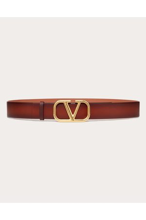VALENTINO GARAVANI Men Belts - Vlogo Signature Buffered Leather Belt Man Cowhide 100% 110
