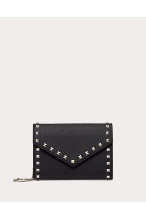 VALENTINO GARAVANI Women Wallets - Rockstud Grainy Calfskin Wallet With Chain Strap Women 100% Pelle Di Vitello - Bos Taurus OneSize
