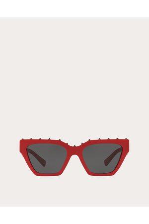 VALENTINO OCCHIALI Rectangle Frame Rockstud Acetate Sunglasses unisex 100% Acetato OneSize