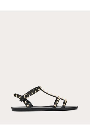 Valentino Rockstud Flat Rubber Sandal Women Pvc - Polyvinyl Chloride 100% 35