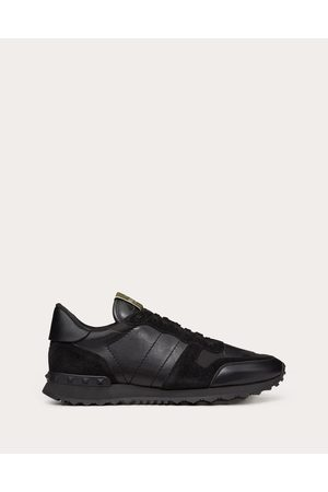 VALENTINO GARAVANI UOMO Camouflage Noir Rockrunner Sneaker Man Lambskin 50%, Cotton 30%, Polyester 20% 42.5