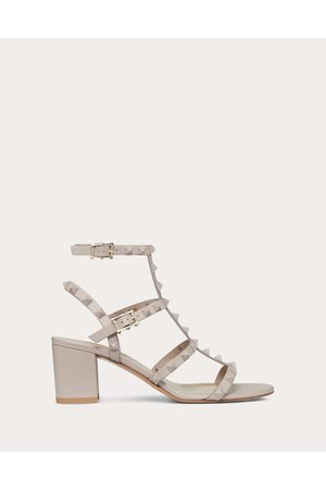 Valentino Women Sandals - Rockstud Ankle Strap Sandal With Tonal Studs 60 Mm Women Poudre 100% Calfskin 41.5