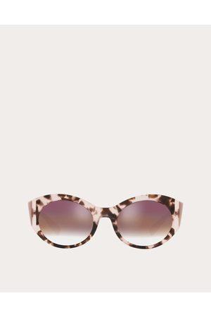 VALENTINO Women Sunglasses - Color-block Oval Frame Acetate Sunglasses Women Light Acetate 100% OneSize