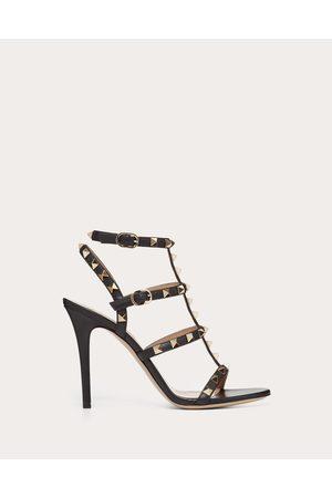 VALENTINO GARAVANI Rockstud Calfskin Ankle Strap Sandal 100 Mm Women Calfskin 100% 40.5