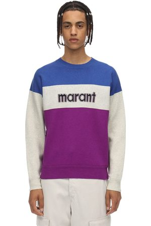 Isabel Marant Ennet Printed Mix Cotton Jersey Crewneck