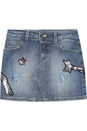 Msgm Embellished denim miniskirt