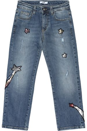 Msgm Embellished straight jeans