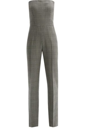 PALLAS X CLAIRE THOMSON-JONVILLE Women Jumpsuits - Fatale Prince Of Wales Check Strapless Jumpsuit - Womens - Grey Multi
