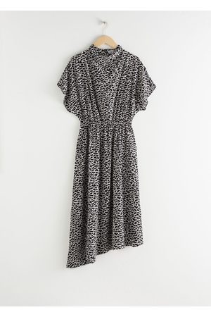 & OTHER STORIES Asymmetric Satin Midi Dress